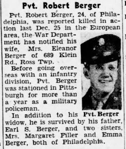 Berger, Robert; The_Pittsburgh_Press_Wed__Feb_14__1945_