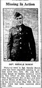 Bosch__Gerald, Sioux Center News 01 Feb 1945 Page 1