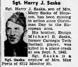 Saska, Harry J.; The_Pittsburgh_Press_Sun__Feb_4__1945_