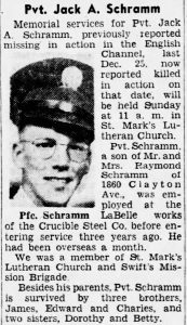 Schramm, Jack A.;The_Pittsburgh_Press_Thu__Apr_5__1945_