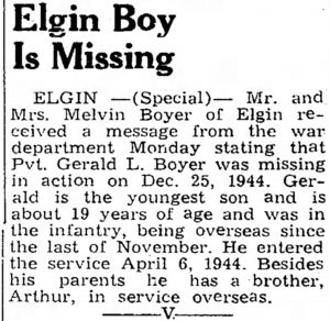 Boyer, Gerald L. (IA); The_Oelwein_Daily_Register_Fri__Jan_19__1945_