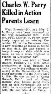 Parry, Charles W. (IA); The_Muscatine_Journal_and_News_Tribune_Sat__Mar_10__1945_